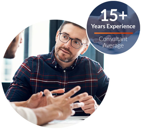 Consultants Average 15+ Years of Experience